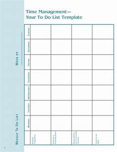 Time management how to manage time time management for Time management to do list template