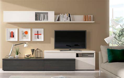 composicion de muebles de salon moderno en polar  antracita