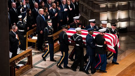 full video scenes  george hw bushs funeral video