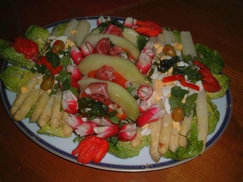 la cuisine de bernard tarte au citron ensalada fresca salade au melon asperges et serrano
