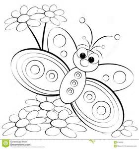 Cute Butterfly Coloring Pages