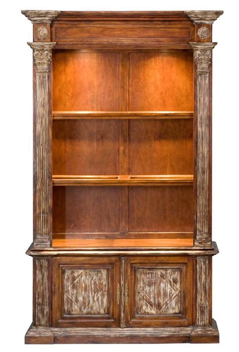 solid walnut bookcase cabinet island british colonial