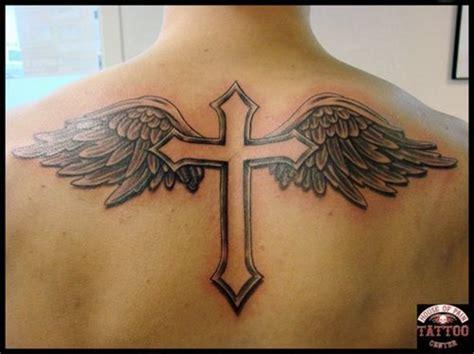 cross  wings tattoo picture  checkoutmyinkcom