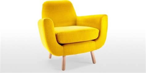jonah armchair in dandelion yellow contemporary