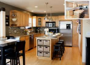 Gray Modern Kitchen Paint Colors With Oak Cabinets