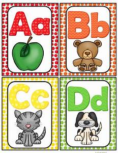 free here is a cute set of alphabet cards for your With classroom alphabet letters