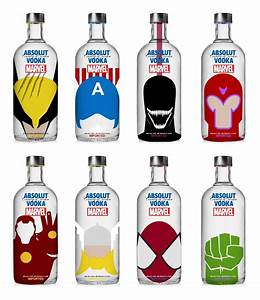 Absolut Vodka x Marvel (Concept) on Packaging of the World