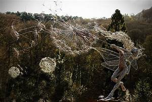 Dramatic stainless steel wire fairies by robin wight for Dramatic stainless steel wire fairies by robin wight