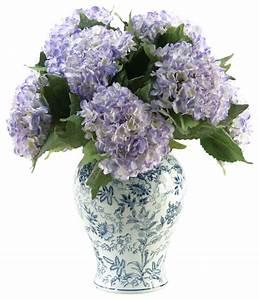 D&W Silks Hydrangeas in Large Blue/White Chinese Porcelain ...