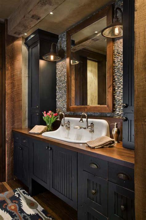 Beautiful Rustic Small Bathroom At Fffcededd Western