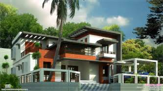 modern home house plans 3400 sq contemporary home design kerala home design and floor plans