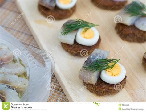 coforama canape canapes with herring and eggs stock photo image 28838300