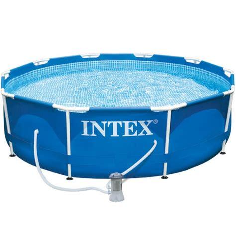piscine gonflable gifi piscine tubulaire metal frame intex d305 x h76 cm plein air jardin plein air gifi