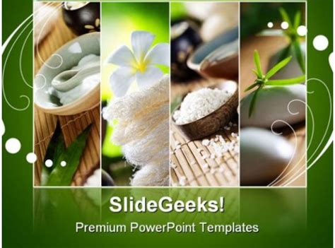 spa fragments beauty powerpoint backgrounds  templates