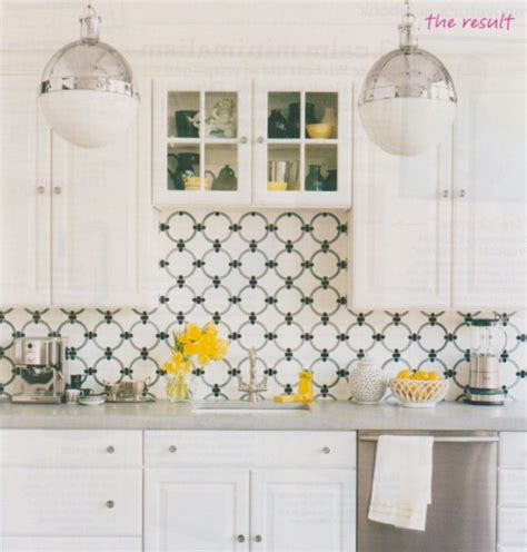 in the green kitchen interesting black and white kitchen back splash with 4652