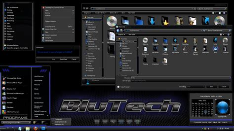 Windows 7 Theme  Blutech By Jockhammer On Deviantart