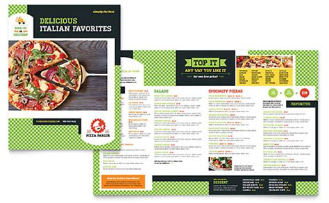 restaurant menu template  word publisher