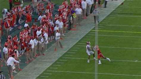 clemson  called  sideline interference