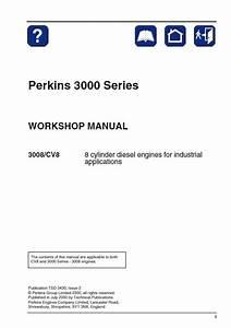 Perkins 3008  Cv8 Diesel Engines Workshop Manual Pdf