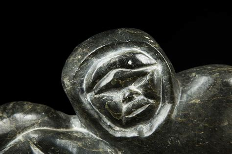 Inuit Carved Soapstone Hunter And Seal