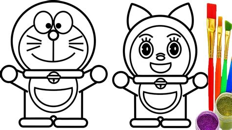 doraemon  dorami coloring pages  kids learn drawing