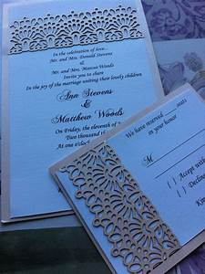 laser cut wedding invitation lace belly band custom With lace belly band for wedding invitations