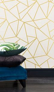 Buy Gold Detail Geometric Wallpaper from the Next UK ...