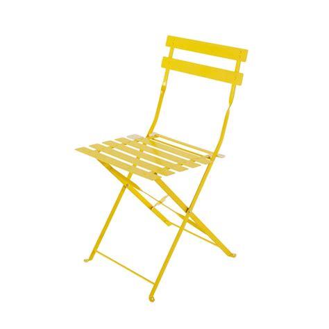 chambre de bonne 16 2 chaises pliantes de jardin en métal jaune confetti