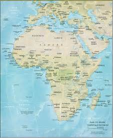 Physical Map Asia and Africa