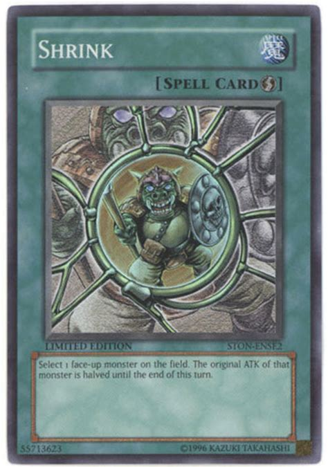 yu gi  card ston ense shrink super rare holo