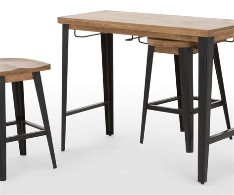 Bar Tables And Stools In Sleek Round Pedestal Tall Table