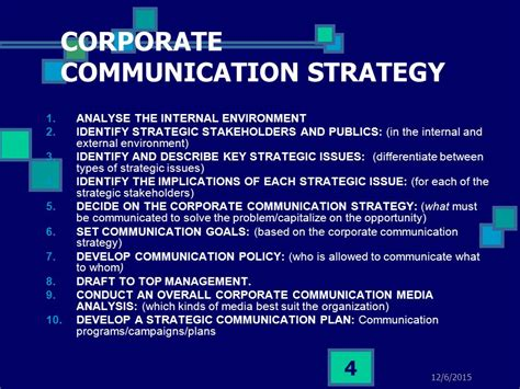 communication strategy developing corporate communication strategy communication plans ppt