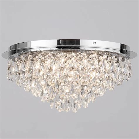 ceiling lights for low ceilings flush ceiling light crystal 6 light chrome from litecraft