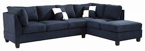 glory furniture tufted sectional sofa navy blue suede With navy blue tufted sectional sofa