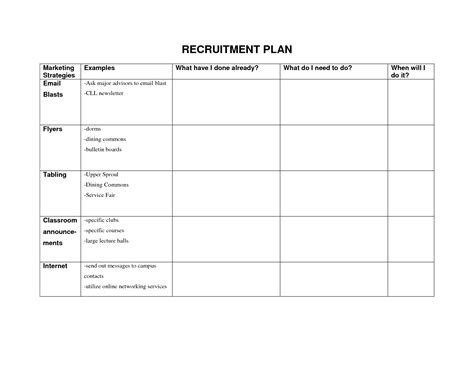 recruitment plan recruitment forms and templates recruiter forms