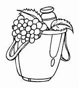 Coloring Pages Grapes Grape Fruits Printable Vegetables Momjunction Lovely Worksheets Milk Fruit sketch template