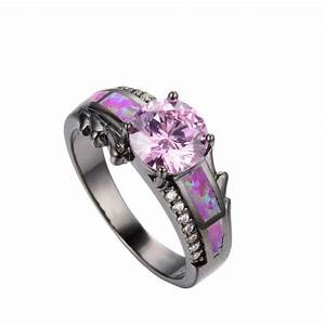 pink rings for women caymancode With black wedding rings womens