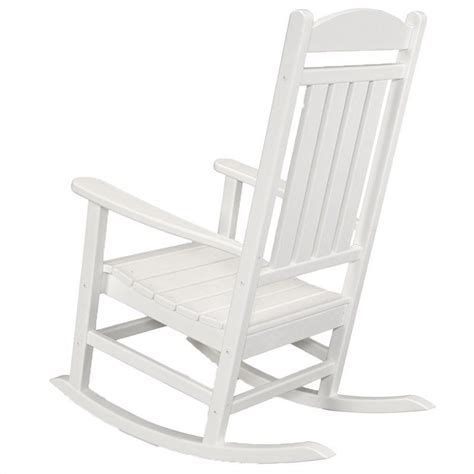 polywood rocking chairs white polywood presidential outdoor rocker in white r100wh