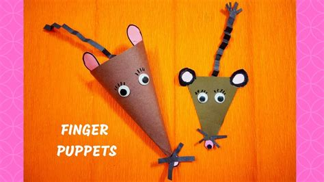 finger mouse puppet craft finger puppets diy puppet