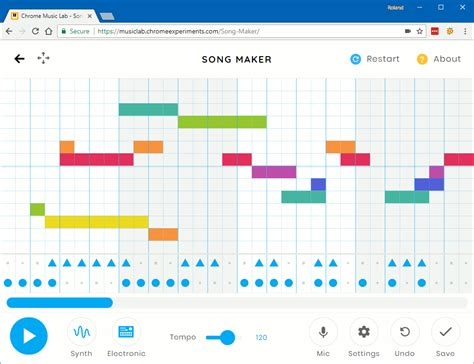 Song maker, the newest experiment in chrome music lab, is a simple way for anyone to make and share a song. Try this Google Chrome experiment for making music