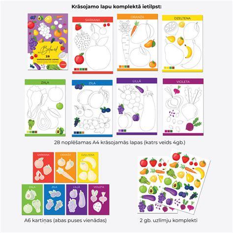 Krāsojamo lapu komplekts - Pazīsti krāsas!, A4, 28lpp ...