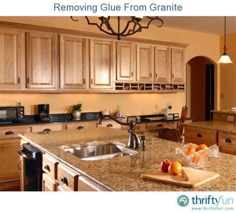 removing glue from granite thriftyfun