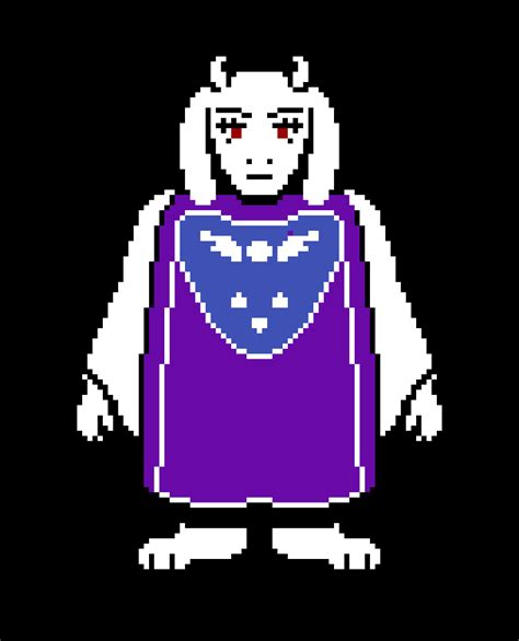 pixilart battle toriel colored sprite  lolking