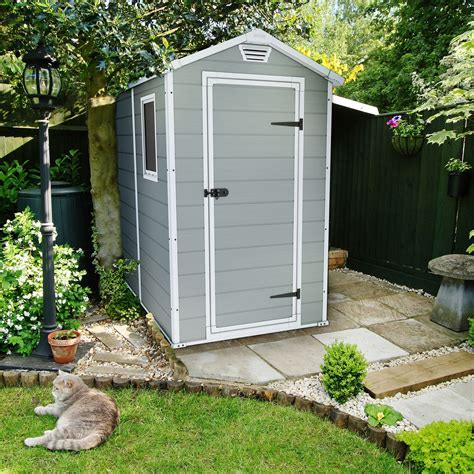shed b and q 6x4 manor apex plastic shed departments diy at b q