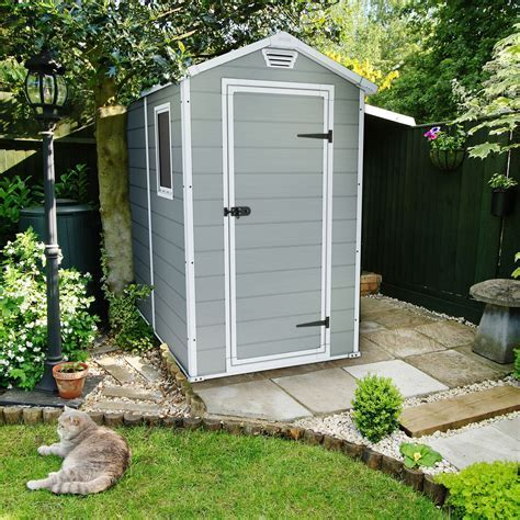 6x4 Manor Apex Plastic Shed   Departments   DIY at B&Q