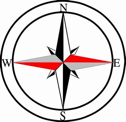 Compass North Clipart Symbol Grey Line Clip