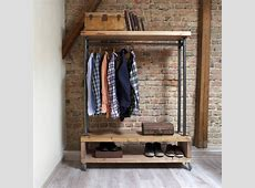 industrial style clothing storage unit by cosywood