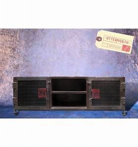 Meuble Industriel Vintage : meuble tv vintage industriel ~ Nature-et-papiers.com Idées de Décoration