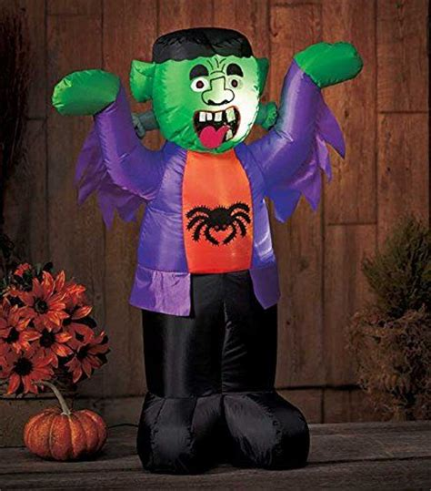 led lighted halloween inflatable blow up monster yard