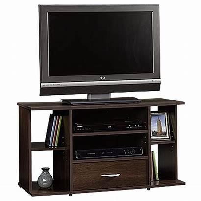 Tv Stand Cherry Panel Cinnamon Shelf Sauder